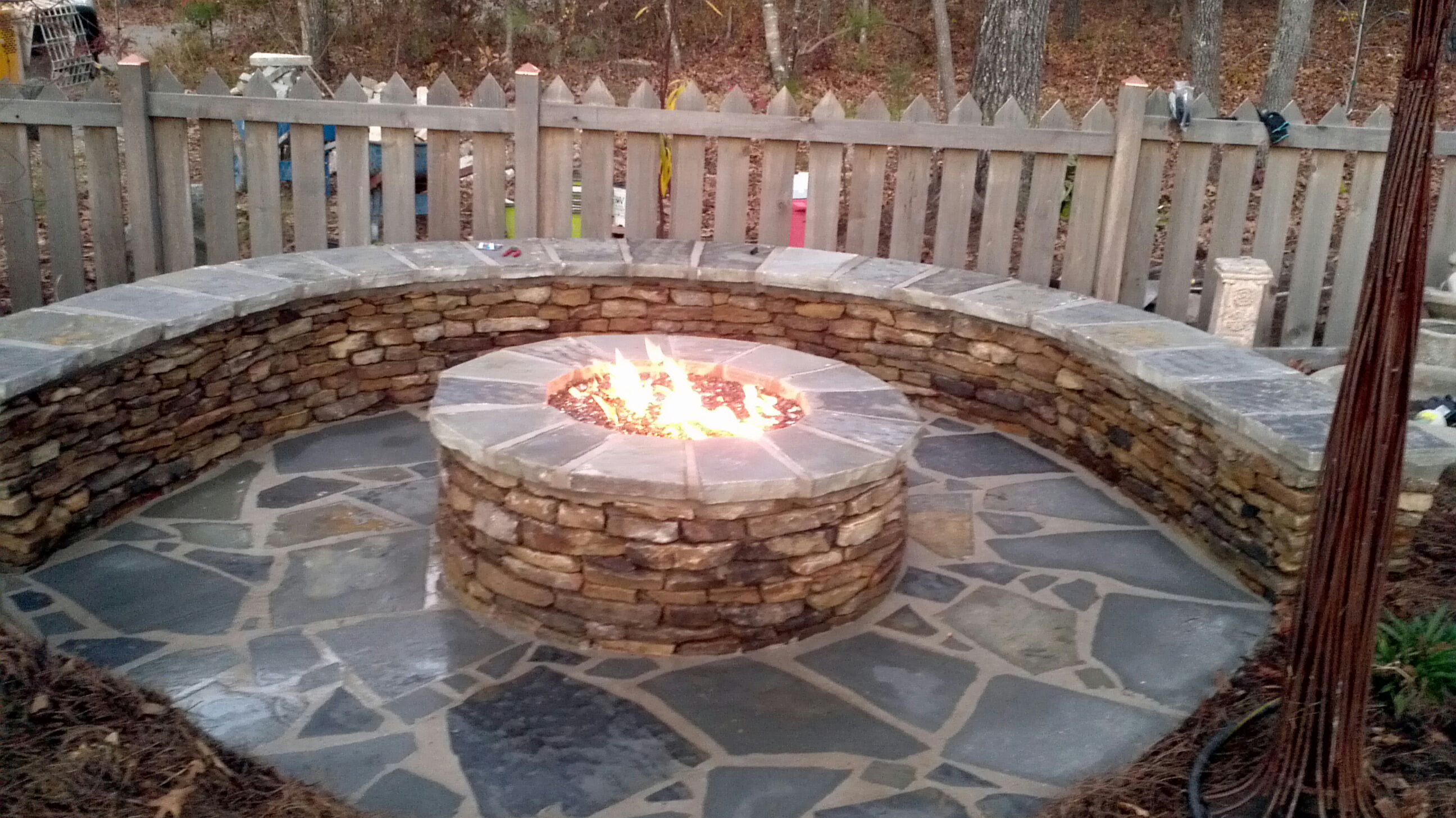 the fire pit the fire pit half way on natural gas fire pit and patio