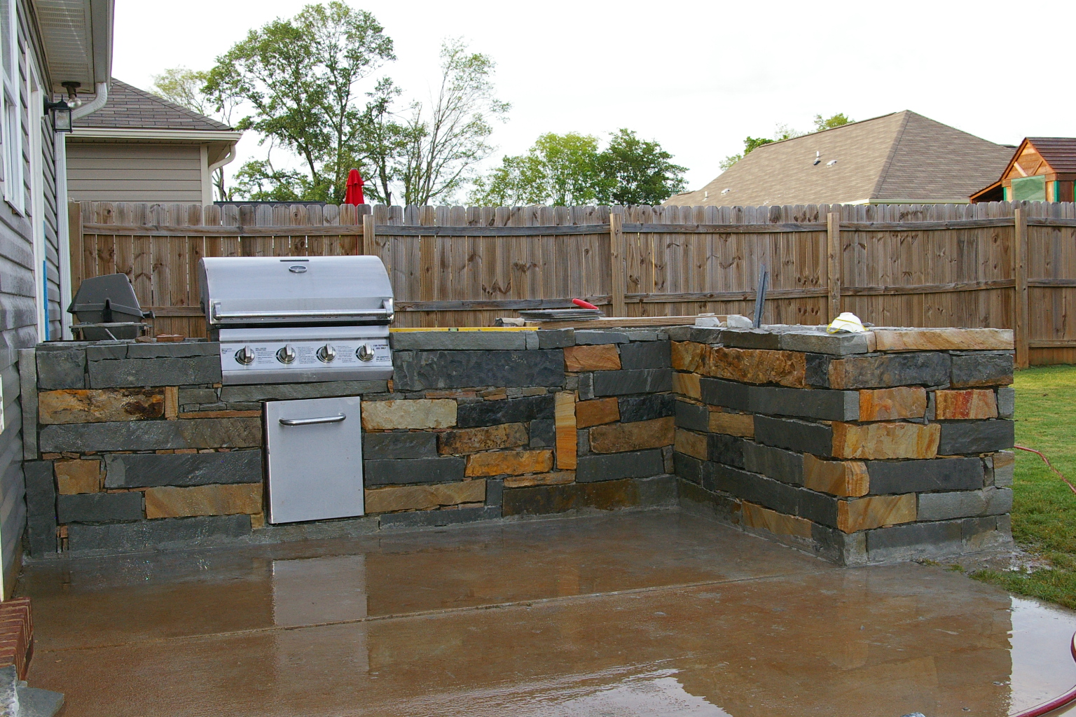Outdoor kitchen for Plans for outside kitchen