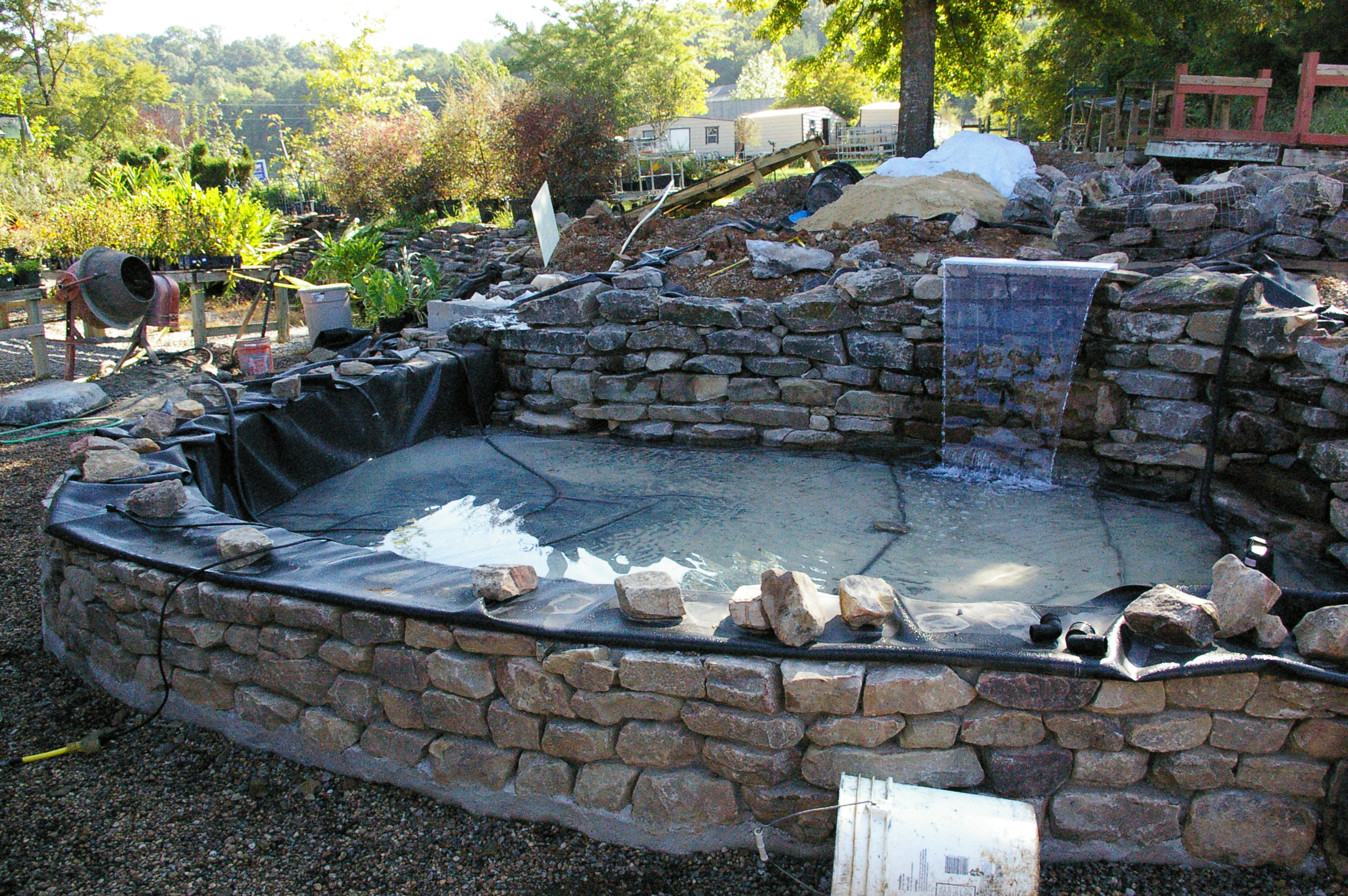 Raised Garden Pond Ideas : Another picture after completing the prep work