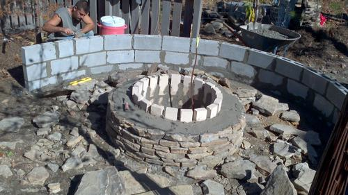 Stone Patio And Fire Pit