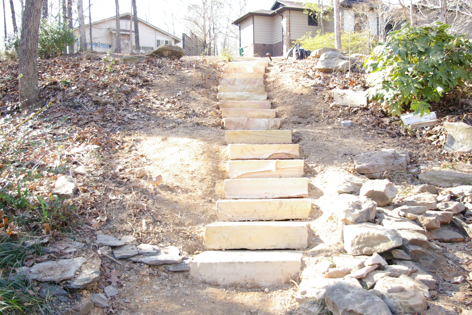 Water Features And Stone Steps